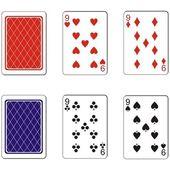 Zestaw kart do gry 06 — Wektor stockowy