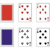 Hrací karta sada 09 — Stock vektor