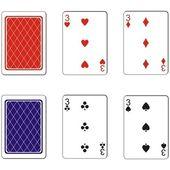 Zestaw kart do gry 10 — Wektor stockowy