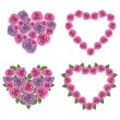 Royalty-Free Stock Vector Image: Hearts flower set 02