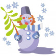Snowman color 07 — Stock Vector #8899370