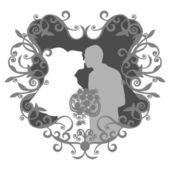 Evlilik çift 13 — Stok Vektör