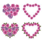 Flor de corações conjunto 02 — Vetorial Stock