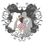 Wedding couple 10 — Stock Vector