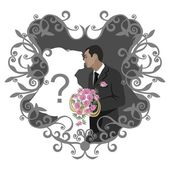 Wedding couple 11 — Stock Vector