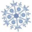 Royalty-Free Stock Vector Image: Isolated snowflake 05