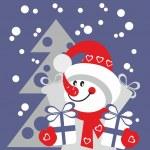 Snowman color 21 — Stock Vector #8939706