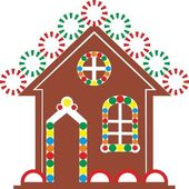 Gingerbread house color 03 — Stock Vector