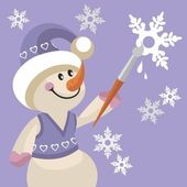 Snowman color 17 — Stock Vector
