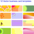 Business card set 02 - Stock Vector