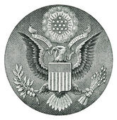 E Pluribus Unum Seal on the US Dollar Bill — Stock Photo