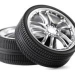 Car wheels on white background. — Stock Photo #8859613
