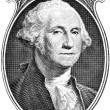Stock Photo: Portrait of president George Washington.