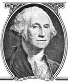 Portrait of president George Washington. — Stock Photo