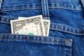 Dollars in a pocket — Stockfoto