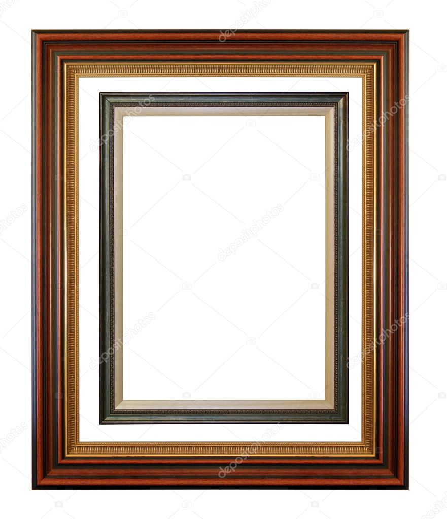 Picture frame isolated on the white — Stock Photo #8781053
