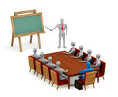 Group of 3d persons on the meeting — Foto Stock
