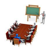 Grupa osób na spotkania — Zdjęcie stockowe