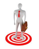 3d man on the red target — Stock Photo