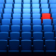 The auditorium with one reserved seat — Stock Photo #9132353