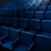 Empty cinema auditorium — Stock Photo