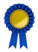 3d illustration of blue ribbon over white background — Stock Photo