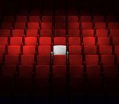 演艺厅设有一个保留席位 — 图库照片