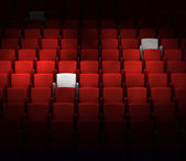 The auditorium with reserved seats — Stockfoto