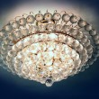 Close-up of a beautiful crystal chandelier — Foto Stock