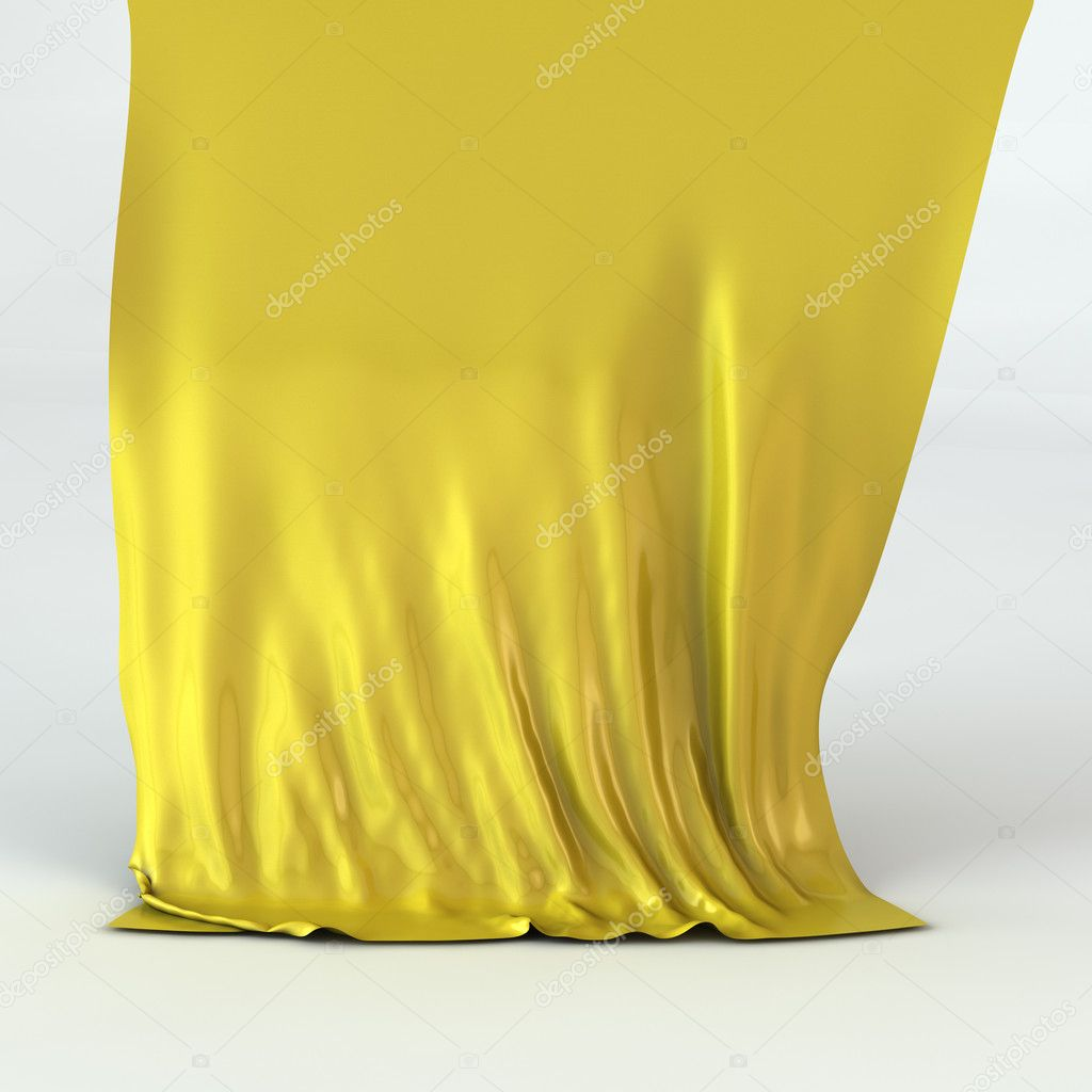 Golden silk drapery  Stock Photo #9205548