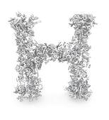 Forma de la letra h de letras 3d — Foto de Stock