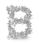Shape of letter B made from 3d letters — Stock Photo