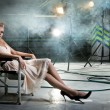Girl on a chair — Stock Photo #10236032