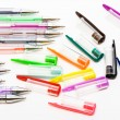 Plastic ball-point pens — Stock Photo