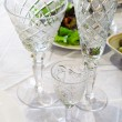 Stock Photo: Beautiful crystal glasses