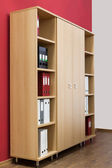 Bookcase with folders — Stock Photo