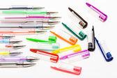 Plastic ball-point pens — Stock Photo