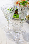 Beautiful crystal glasses — Stock Photo