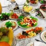 Свежие салаты — Стоковое фото