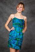 Mädchen in einem schönen kleid — Stockfoto
