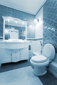 Blue bathroom — Foto de Stock