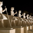 Ancient egyptian statues — Stock Photo