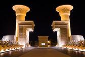 Gates near the egyptian hotel — Stock Photo