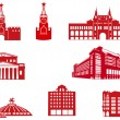 Stock Vector: Moscow Buildings Icons