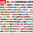Stockvektor : All 192 Sovereign States - World Flags Series