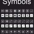Navigation Symbols Set - Imagen vectorial