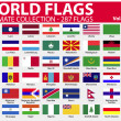 World Flags - Ultimate Collection - 287 flags - Volume 4 — Imagens vectoriais em stock