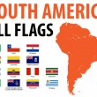 South America All Flags - Stock Vector
