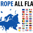 Europe All Flags — Stock Vector