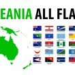 Oceania All Flags — Stock Vector